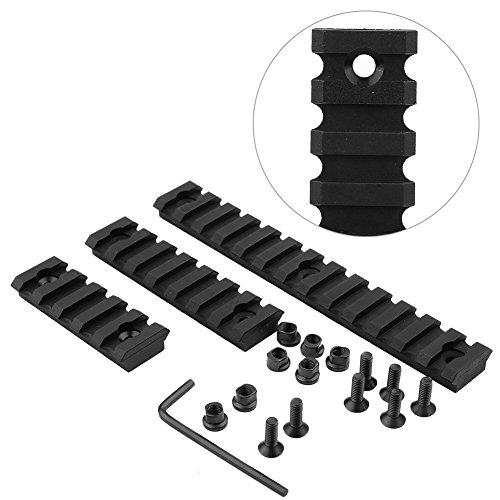 VGEBY Black Rail Section Plastic 5/7/13 Slots Kemod Rail Lightweight Picatinny Rail Section for Hunting Keymod Handguard Mount Rail System