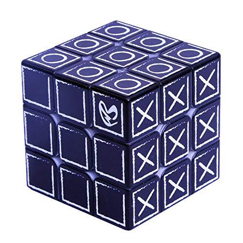 JMFHCD Cubo Mágico 3X3x3 Ciega Braille Huella Dactilar Relieve Aprendizaje Rompecabezas Juguetes Educativos Regalos para Niños Los Adultos