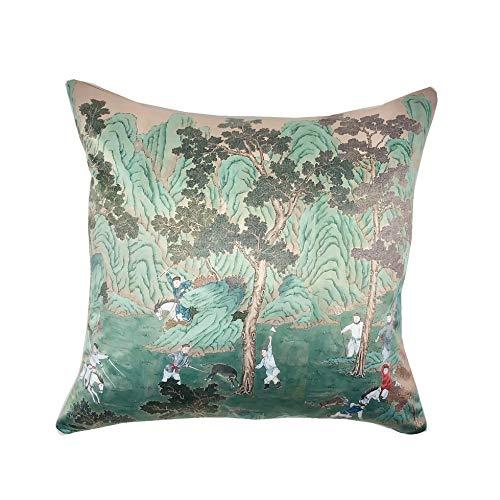 Funda de almohada verde menta Chinoiserie Pillow // Verde Esmeralda // Decoración del hogar // Almohada decorativa // Almohada de diseñador // Funda de almohada para sofá de habitación