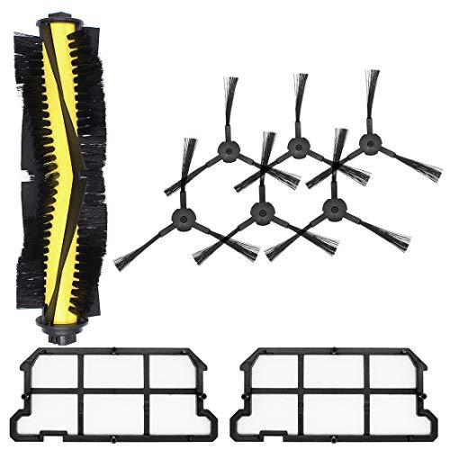 DingGreat Kit de Reemplazo para ILIFE V7 V7s V7s Pro Robot Aspirador Piezas de Repuesto con 1 Cepillo Principal + 6 cepillos Laterales + 2 filtros