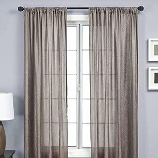 Softline Home Fashions SKNZcnct120RPP Gigi Single Curtain Panel, Concrete