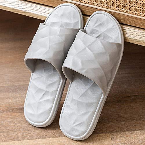 XZDNYDHGX Zapatillas Interior Sandalias Unisex para Verano Primavera OtoñO,Zapatillas de Playa para Mujer Chanclas Planas Antideslizantes, Ligeras y cómodas Zapatilla Peep Toe Gris EU 37-38