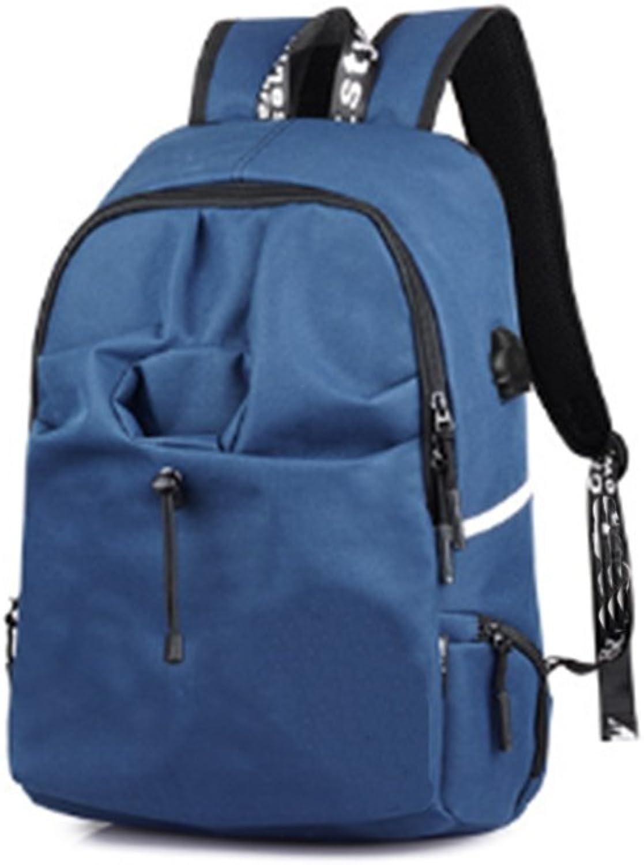 Studenten Rucksack Schultasche für Jungen Mdchen Jugendliche Oxford Tuch Wasserdicht Gedruckt + USB Ladekabel, B