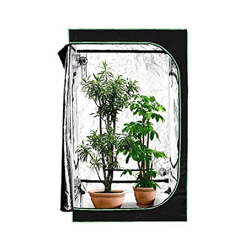 HWHSZ Grow Tent, Grow Box, Reflective Mylar Indoor Hydroponic Grow Tent, Greenhouse Grow Tent with Observation Window for Indoor Greenhouse Garden Plant Growing, 120X120X200CM