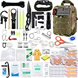 KOSIN Survival Gear and Equipment, 500 Pcs Survival First Aid kit,...