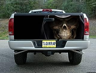 Avery T05 Grim Reaper Skull Tailgate WRAP Vinyl Graphic Decal Sticker F150 F250 F350 Ram Silverado Sierra Tundra Ranger Frontier Titan Tacoma 1500 2500 3500 Bed Cover Tint Image