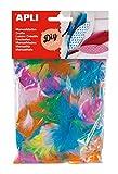 APLI Kids 13281 - Plumas para manualidades (14 g), varios colores/ multicolor