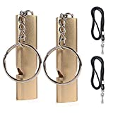 Dog Whistle, Dog Training Whistles with Lanyard Double Tubes and Keychain 2 Packs Security Survival Whistle for Dog Training