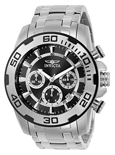 Invicta Men's Pro Diver Quartz Watch with Stainless-Steel Strap, Silver, 26 (Model: 22318)
