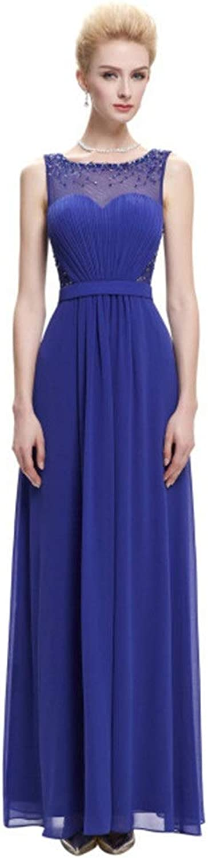 Elegant Ladies Dress Women's Sexy Sweetheart Sequin Evening Dress Sleeveless Waist Dress Bridesmaid Dress (color   bluee, Size   US14)