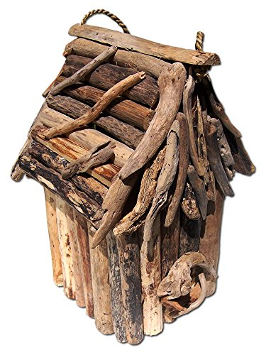 SEESTERN drijfhout vogelhuisje vogelhuisje Driftwood tuindecoratie /1634
