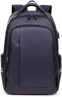 Waterproof Business Laptop Backpack 15.6 inch with USB Charging Port Mens Women Slim Travel Laptop Bag Daypack for Laptop Notebook Tablet (Dark Blue)