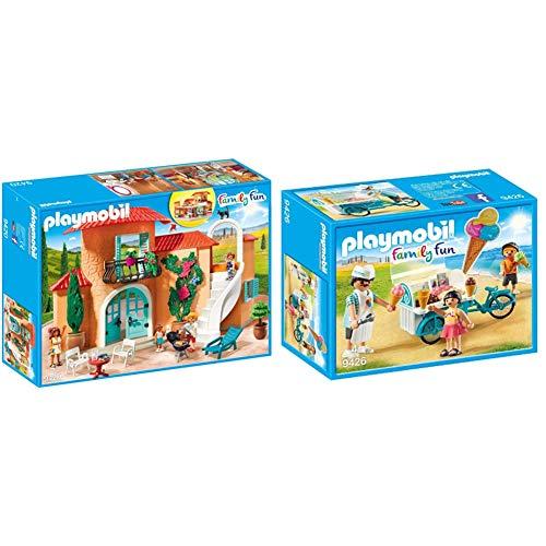 PLAYMOBIL Family Fun Chalet, A Partir de 4 años (9420) + Carrito de Helados Juguete, Multicolor (Geobra Brandstätter 9426)