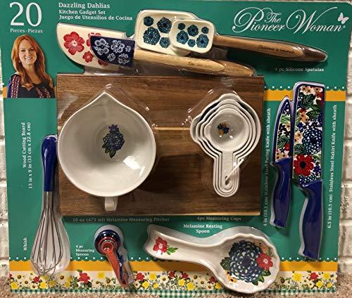Pioneer Woman Utensil Set Dazzling Dahlias 20 Piece Kitchen Gadget Set And 3 Pack Tumbler Gift Set Buy Online In Kuwait At Desertcart Com Kw Productid 104189760