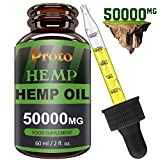 PROTOHEMP Hemp Natural Oil, Vegan Friendly,Powerful Formula, 100% High Strength,100% Natural and organically Grown, GMP Standards(60ML-50000mg)
