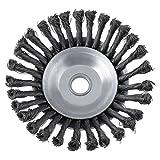 Disco durevole della spazzola della rotella del filo di torsione del giunto rotante del giunto di spazzola durevole 25.4x200mm che abbellisce & che taglia irrigazione