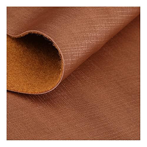 WDSHB Hojas de cuero sintético de vinilo sintético PU tela de cuero sintético, accesorios de cuero, piezas de cuero (tamaño: 137 cm x 1 m, color: oro rosa 13)