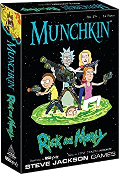 MUNCHKIN  Rick And Morty Card Game   Rick and Morty Adult Swim Munchkin Board Game   Officially Licensed Rick and Morty Merchandise   Munchkin Game from Steve Jackson Games