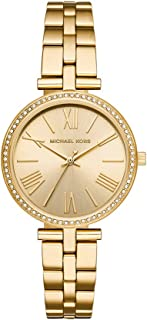 Michael Kors Women's Maci Quartz Watch with Stainless-Steel-Plated Strap, Gold, 16 (Model: MK3903)