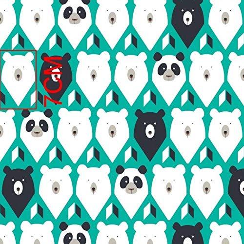 Pingianer - Tessuto 100% cotone, motivo: orsetti, orsetti polari, marrone, per bambini, vendita al metro, per lavori di cucito artigianali, 100x160 cm, 1 m