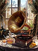 番号によるDiyペイントデジタル絵画絵画大人のデジタル手描き壁画ラグ絵画リビングルーム装飾絵画ウィンドウフォノグラフ