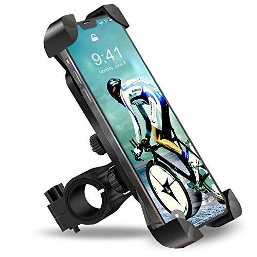 ANYTOP Fahrrad-Handyhalterung, Anti-Schütteln, um 360 Grad drehbar, verstellbar, für iPhone 12 11 Pro Max X XR Xs 7 8 Plus, Samsung S20 S7/S8/Note10/9/8 GPS