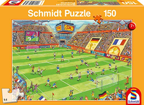 Schmidt Spiele- Puzle Infantil en la Fase de fútbol (150 Piezas), Color carbón (56358)