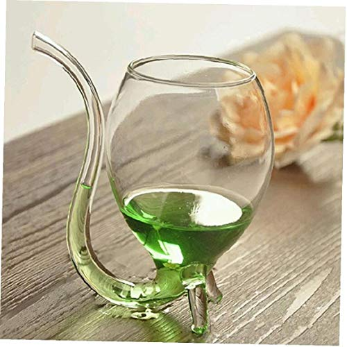 Yililay Copa de Vino, 1PCS 300ml Vampiro Taza del Vino de Cristal Creativo Vino Whisky de Cristal Que aspira la Taza con la Bebida del Tubo de Paja Partido publicación de la decoración del hogar