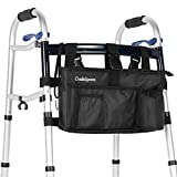 Walker Bag by OasisSpace - Water Resistant Pouch, Accessory for Senior Walker (Black)