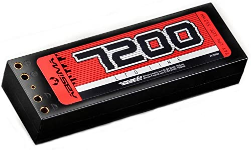 ABSIMA 4150003 4150003-Absima voiture RC Lot de 2 Batteries LiPo 7,4 V-110C 7200 avec Double Tube MultiCouleure