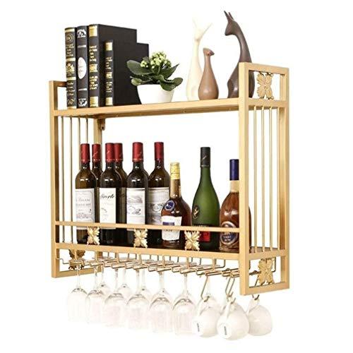 Meyeye ZHOU.D.1 Wijnrek - Retro Decoratieve Wijnrek Wandopknoping Wijnrekken Hoogte Verstelbare Wijnglazen/Keukenrek Ledge Multi-Functie Huishoudelijke Bar Keuken Plafond Fles Rek Opslag Rack