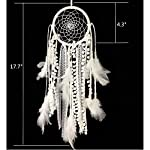 Dremisland Dream catcher Handmade Traditional White Feather Wall Hanging Car Hanging Home Decoration Ornament Decor…