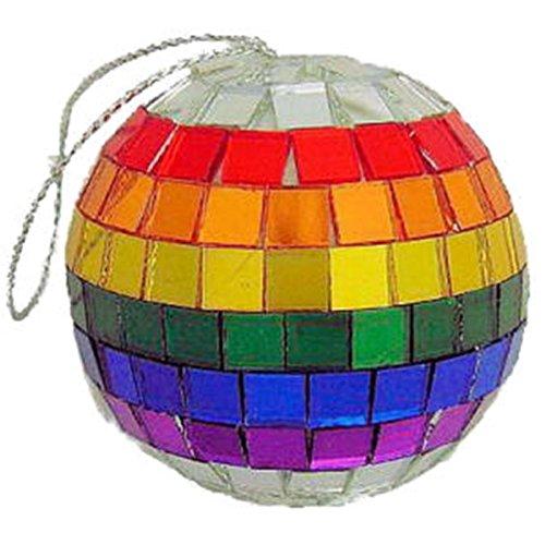 Gay Rainbow Sisters Christmas Ornaments Disco Balls Set of 12