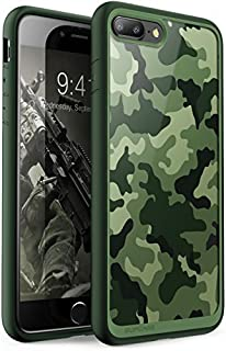 iPhone 8 Plus Case, SUPCASE Unicorn Beetle Style Premium Hybrid Protective Bumper Case [Scratch Resistant] for Apple iPhone 7 Plus 2016 / iPhone 8 Plus 2017 Release (Camo/Green)