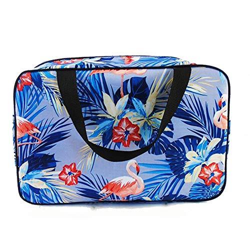 Adaly Simplicity - Impermeable portátil de gran capacidad para mujer, bolsa decorativa multifunción, almacenamiento y lavado portátil, bolsa de baño aplicable (color: azul)