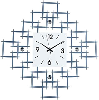 Modern Minimalist Clock Decoration Mute Wall Clock Home Nordic Creative Living Room Clock Blue 20Inch (Size : 5050cm)