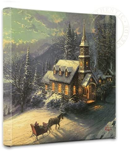 Thomas Kinkade Sunday Evening Max 49% OFF Sleigh Dealing full price reduction Ride 14 Wrappe x Gallery