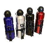 all-around24 Alu Trinkflasche Rot mit Fahrradhalterung Sport Wasserflasche - 750ml Sportflasche Trinköffnung Zug und Druckverschluss