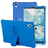 YGoal Funda para Lenovo Tab M8 - Cubierta Protectora a Prueba de choques Suaves para niños de Peso liviano Silicona Case Cover para Lenovo Smart Tab M8, Oscuro Azul