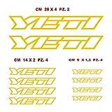 Adesivi Bici Yeti_Kit 2_ Kit Adesivi Stickers 10 Pezzi -Scegli SUBITO Colore- Bike Cycle pegatina cod.0906 (021 Giallo)