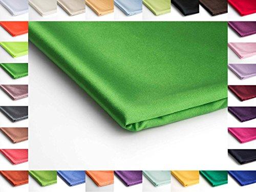 Stoff Satin Dünn Dehnbar Dekostoff - Erhältlich in verschiedenen Farben - 50 x 150cm (Frühlingsgrün Nr 68)