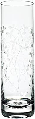 Vase with engraving, Petite Daisy 22cm, transparent, glass, (GERMAN CRYSTAL powered by CRISTALICA)