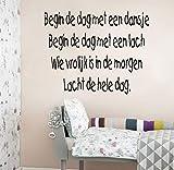 Pegatinas de vinilo adhesivo de la pared de vinilo extraíble de los niños de Holanda Canciones infantiles 60x45cm holandés