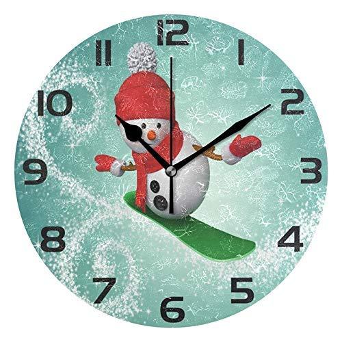zhulaowufenbaoyouxi Regenbogen-Chevron-Herz-runde Acrylwanduhr, stille Nicht tickende Ölgemälde-Innenministerium-Schuldekorative Uhr-Kunst