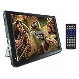 TV Portable 12 Pouces, Téléviseurs Analogiques Numériques DVB-T-T2 110-220V 1280 * 800 pour Voiture/Maison/Avion, Support TF/USB, TV Voiture(Noir)