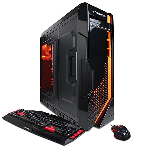 CYBERPOWERPC Gamer Supreme Liquid Cool SLC8800 Gaming Desktop - Intel Core i7-5820K 3.3 GHz CPU, 16GB DDR4 RAM, NVIDIA GTX 960 4GB, 2TB HDD, 128GB SSD, 24X DVD+-RW, Liquid Cool, Win 10 Home