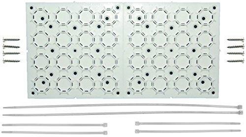 Out Of Sight Brackets Universal, Ajustable Kit de Soporte de Montaje con Organizador de Cables para Soporte de TV de Panel, Debajo del Escritorio Cable Management, Ocultar Cables y más |
