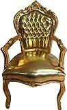 Casa Padrino Barroco Cena para sillas de Cuero de la Mirada