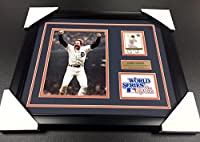 KIRK GIBSON DETROIT TIGERS Autographed Card 1984 WORLD SERIES 8x10 PHOTO FRAMED - MLB Autographed Baseball Cards