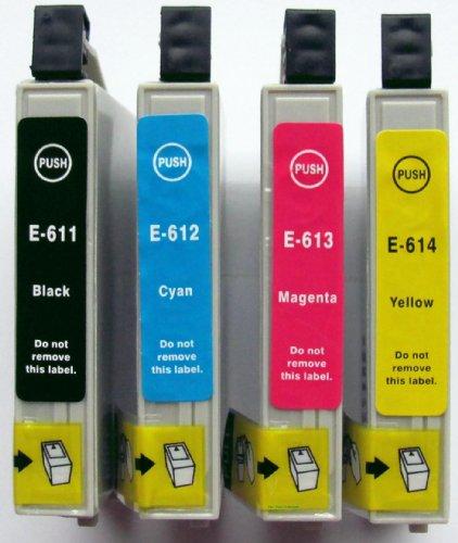 10x Druckerpatrone kompatibel für T0611, T0612, T0613, T0614 Drucker: D68, DX3800, DX3850, DX4200, DX4250, DX4800, DX 4850, DX5850